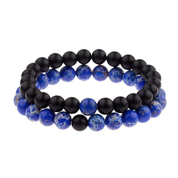 Couples' Bead Bracelets - 2 piece set -  www.sanroccoitalia.it - Jewelry