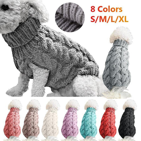 Winter Knitted Dog Sweater for Small and Medium Pets -  www.sanroccoitalia.it - Pet Clothing