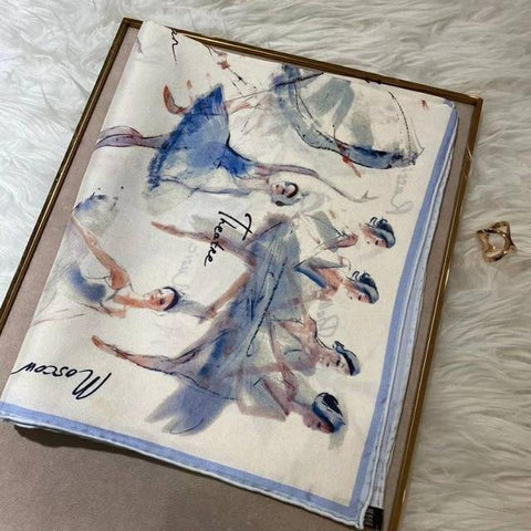 Ballet Dancer Pure Silk Scarf -  70x70 cm -  www.sanroccoitalia.it - Scarf