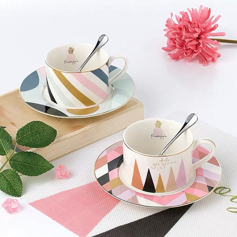 Nordic Coffee/Tea Cup and Saucer