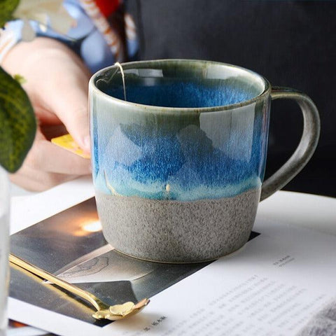 Japanese-Style Variable Glaze Ceramic Mug