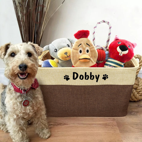 Personalised Pet Toy Storage Basket