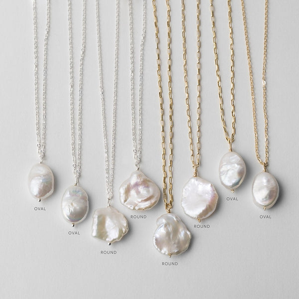 Natural Pearl Necklaces | 925 Silver or Gold Filled Chain