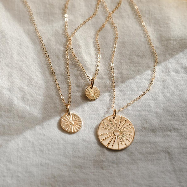 Sunbeam Coin Necklace | 14K Gold Filled -  www.sanroccoitalia.it - Jewelry & Accessories - Necklaces
