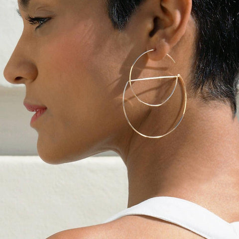 Handmade Gold Filled Hoop Earrings