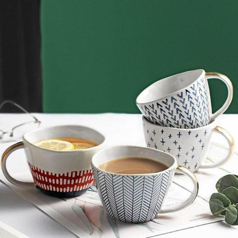 Large Irregular Nordic Mugs | 400 ml