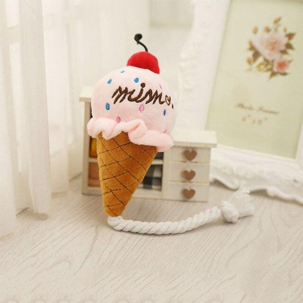 Ice Cream Cone Squeaky Toy for Dogs -  www.sanroccoitalia.it - Pet products