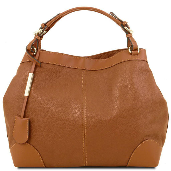 Ambrosia - Soft leather shopping bag with shoulder strap | TL141516 -  www.sanroccoitalia.it - Leather handbags