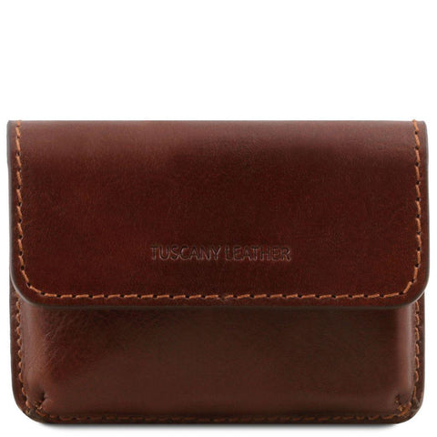 Exclusive leather business cards holder | TL141378 -  www.sanroccoitalia.it - Office leather accessories