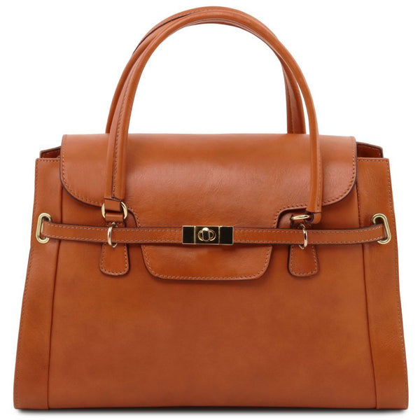 TL NeoClassic - Lady leather handbag with twist lock | TL141230 -  www.sanroccoitalia.it - Leather handbags