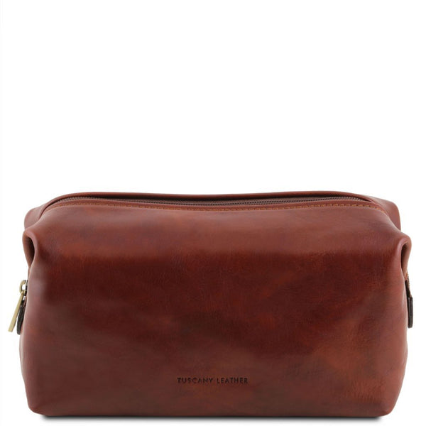 Smarty - Leather toilet bag - Small size | TL141220 -  www.sanroccoitalia.it - Travel leather accessories