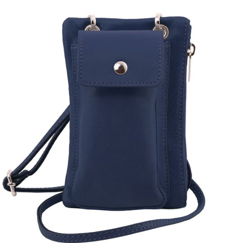 TL Bag - Soft Leather cellphone holder mini cross bag | TL141423 -  www.sanroccoitalia.it - Leather shoulder bags