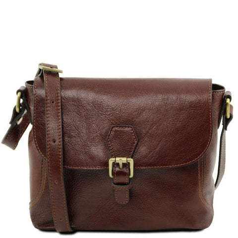 Jody - Leather shoulder bag with flap | TL141278 -  www.sanroccoitalia.it - Leather shoulder bags