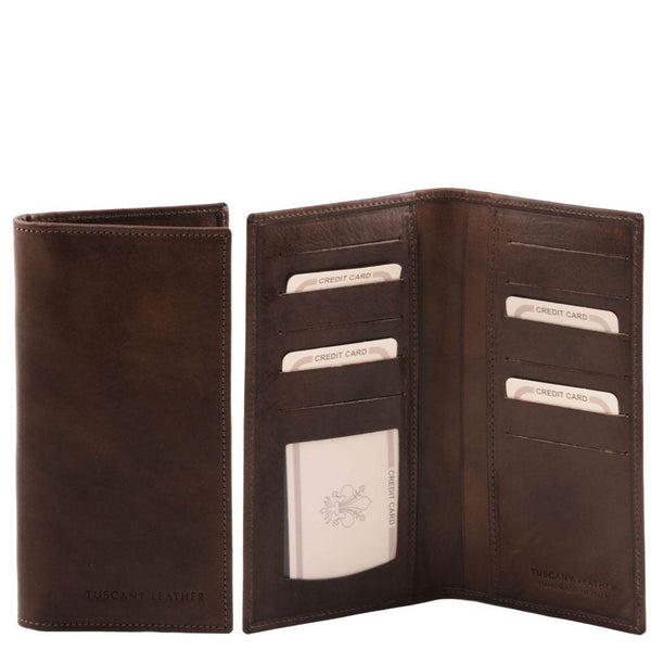 Exclusive leather 2 fold vertical wallet | TL140784 -  www.sanroccoitalia.it - Leather wallets for men