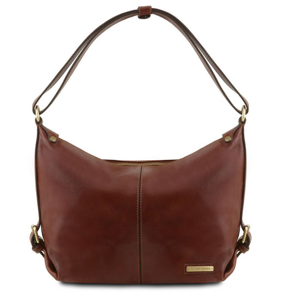 Sabrina - Leather hobo bag | TL141479 -  www.sanroccoitalia.it - Leather shoulder bags