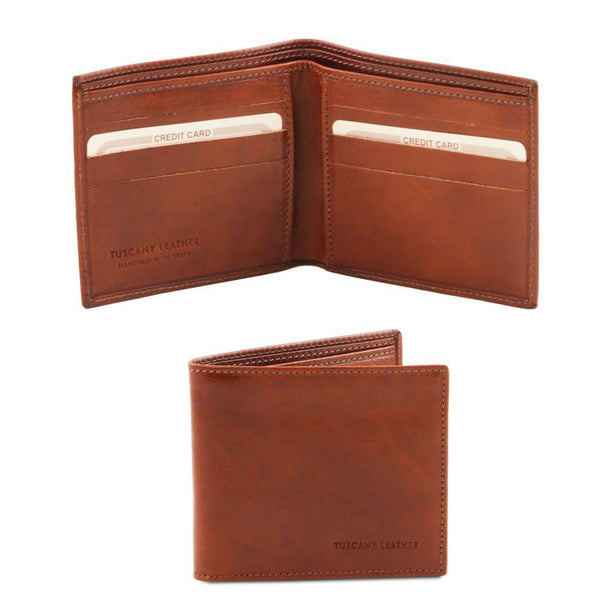 Exclusive 2 fold leather wallet for men | TL140797 -  www.sanroccoitalia.it - Leather wallets for men