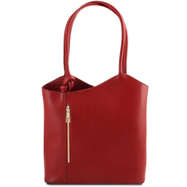 Patty - Saffiano leather convertible bag | TL141455 -  www.sanroccoitalia.it - Leather shoulder bags