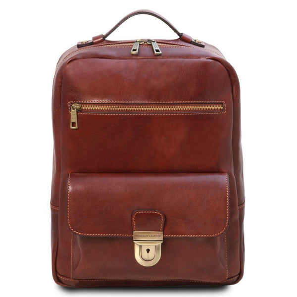 Kyoto - Leather laptop backpack | TL141859 -  www.sanroccoitalia.it - Leather Backpacks