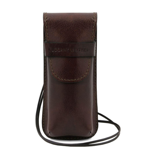Exclusive leather eyeglasses/Smartphone/Watch holder | TL141282 -  www.sanroccoitalia.it - Free time leather accessories