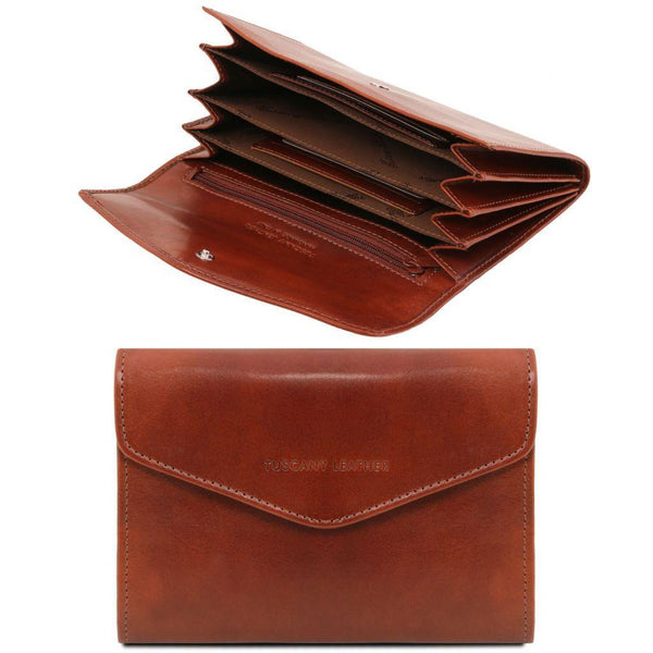 Exclusive leather accordion wallet for women | TL140786 -  www.sanroccoitalia.it - Leather wallets for women