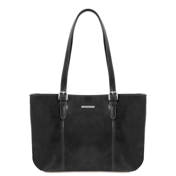 Annalisa - Leather shopping bag with two handles | TL141710 -  www.sanroccoitalia.it - Leather shoulder bags