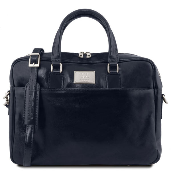 Urbino - Leather laptop briefcase with front pocket | TL141241 -  www.sanroccoitalia.it - Leather laptop bags