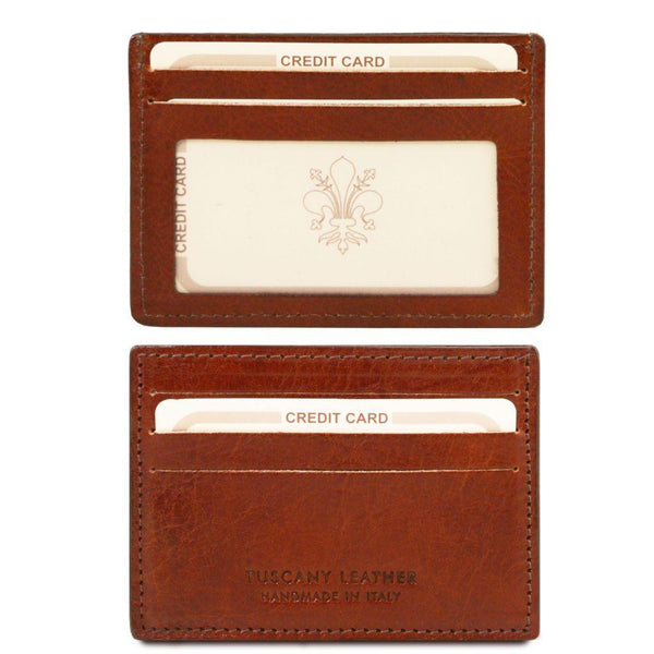 Exclusive leather credit/business card holder | TL140805 -  www.sanroccoitalia.it - Leather accessories for women