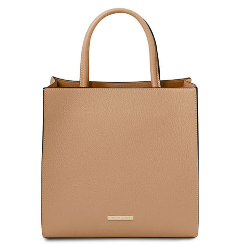 Medea - Leather vertical tote | TL141937 -  www.sanroccoitalia.it - Leather handbags
