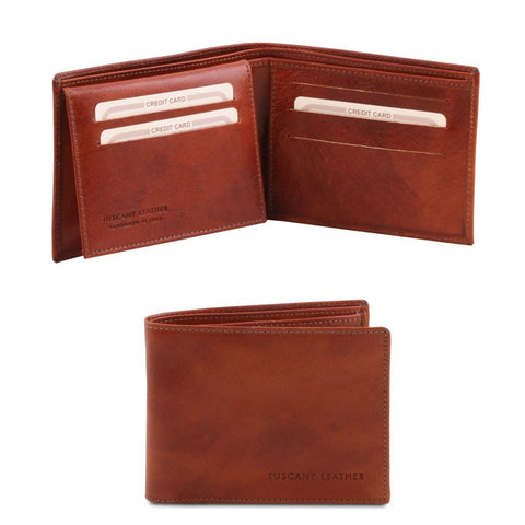 Exclusive leather 3 fold wallet for men | TL140760 -  www.sanroccoitalia.it - Leather wallets for men