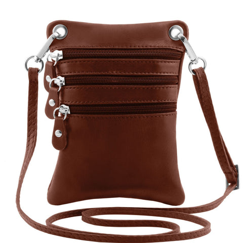 TL Bag - Soft leather mini cross bag | TL141368 -  www.sanroccoitalia.it - Leather bags for men