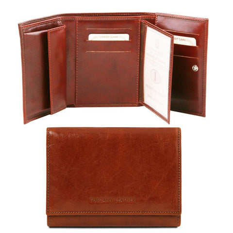 Exclusive leather wallet for women | TL140790 -  www.sanroccoitalia.it - Leather wallets for women