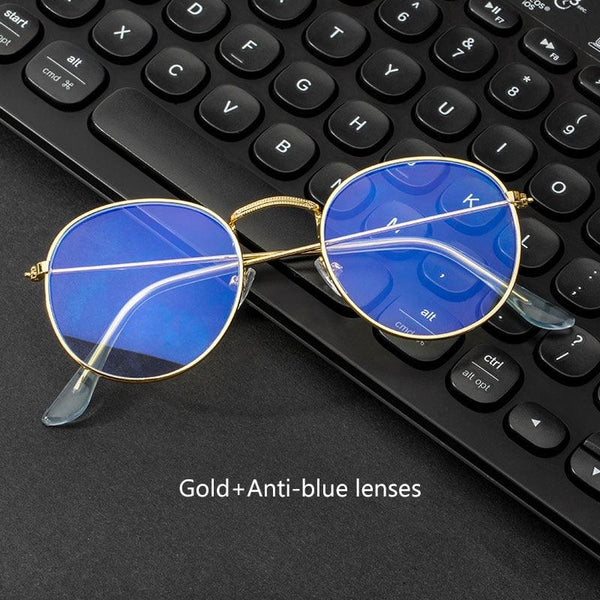Blue Light Blocking Glasses - Round Metal Frames -  www.sanroccoitalia.it - Accessories