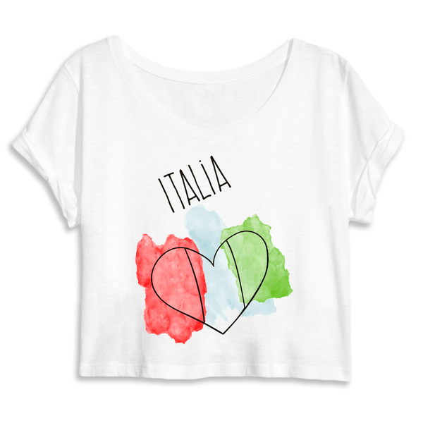 Italia Women's 100% Organic Crop Top -  www.sanroccoitalia.it - Mantis - Crop top - DTG