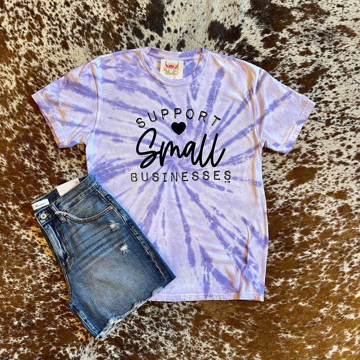 Support Small Businesses Comfort Color Tee