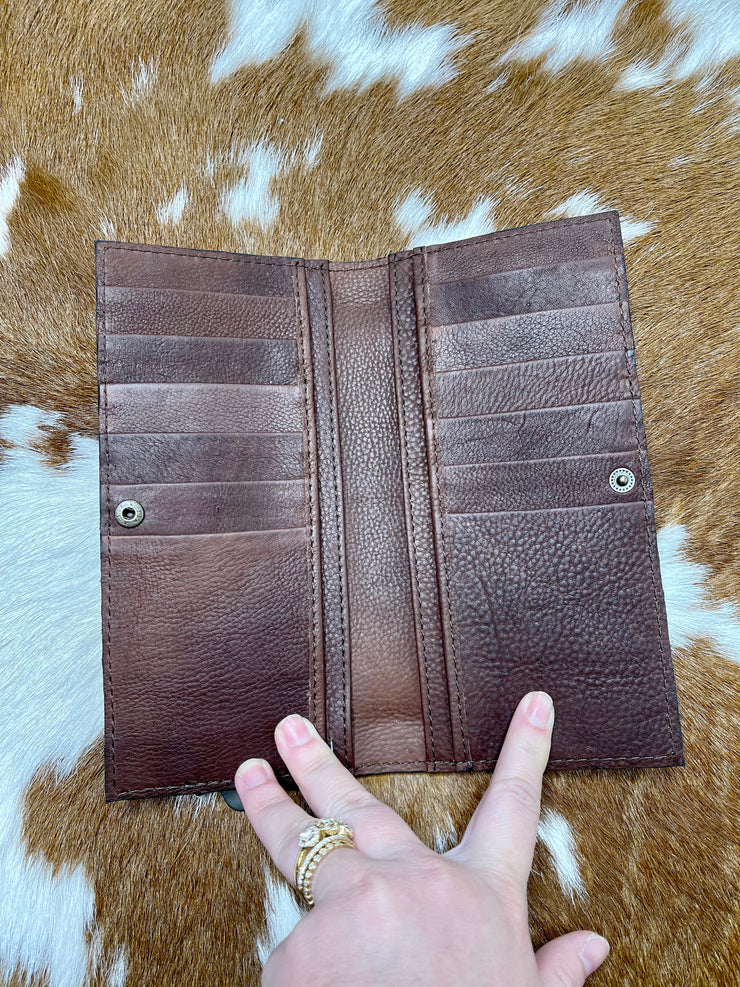 Dolly Tooled Leather Wallet