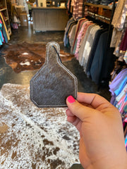 Reusable Leather & Hide Air Freshener [cow tag]