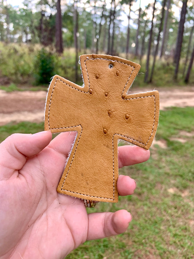 Reusable Leather & Hide Air Freshener [cross]