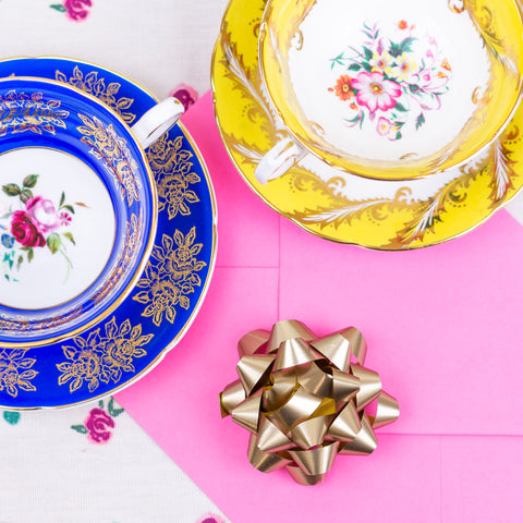 Teacups and Pink Envelope