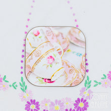 Load image into Gallery viewer, Vintage Teacups Coasters Set of 4