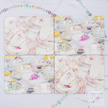 Load image into Gallery viewer, Vintage Teacups Placemats Set of 4