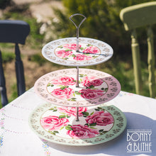 Load image into Gallery viewer, Princess Rose Picnic Cake Stand