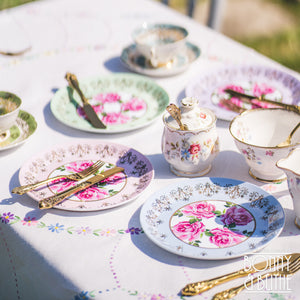Princess Rose Picnic Plates