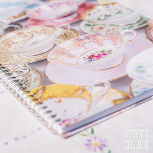 Vintage Teacups Spiral Notebook