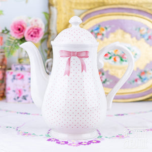 Churchill Vanity Fayre Pink Ribbon Coffee Pot