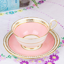 Load image into Gallery viewer, Aynsley Pink Cabinet Teacup and Saucer