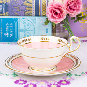 Aynsley Pink Cabinet Teacup and Saucer
