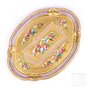 Florentine Tray Oval Small - Lilac
