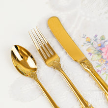 Load image into Gallery viewer, Vintage Style Gold Afternoon Tea Cutlery