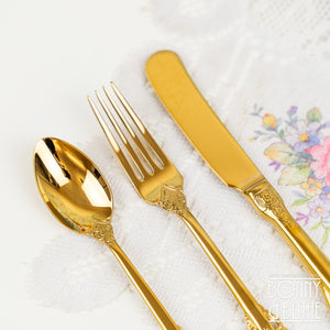 Vintage Style Gold Afternoon Tea Cutlery