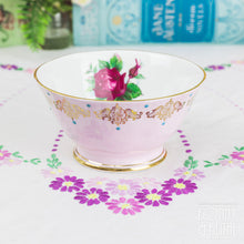 Load image into Gallery viewer, Gold Daisies Pink Teacup and Saucer